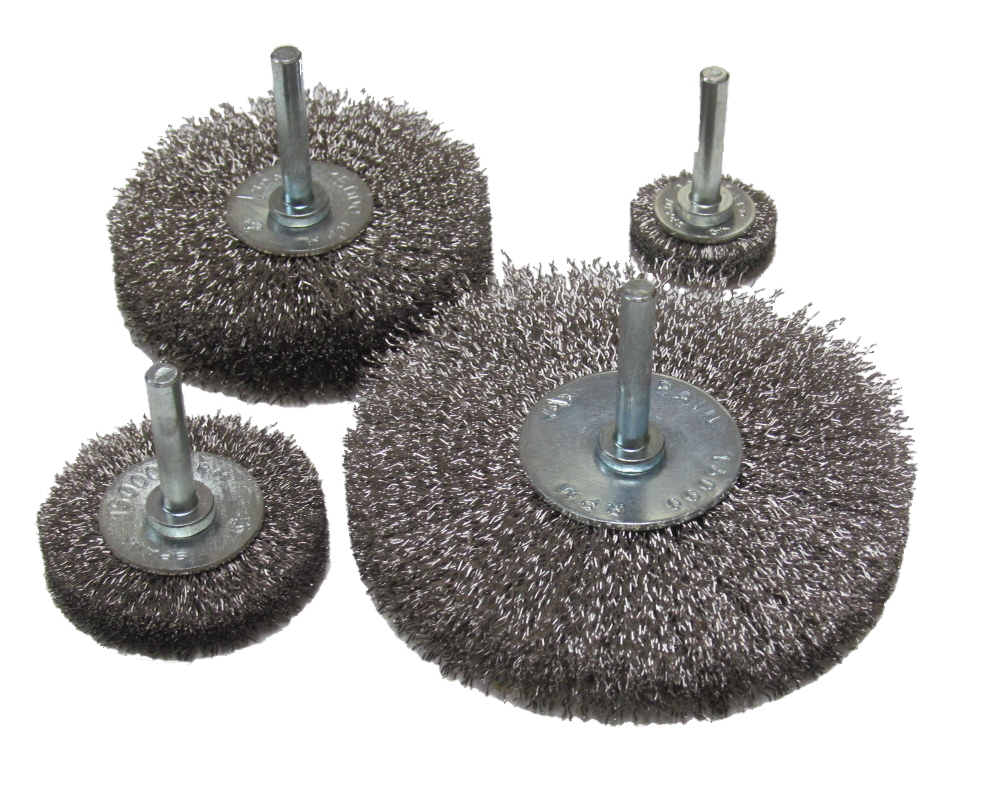 Spindle Mounted Radial Brush Wheels: Stainless