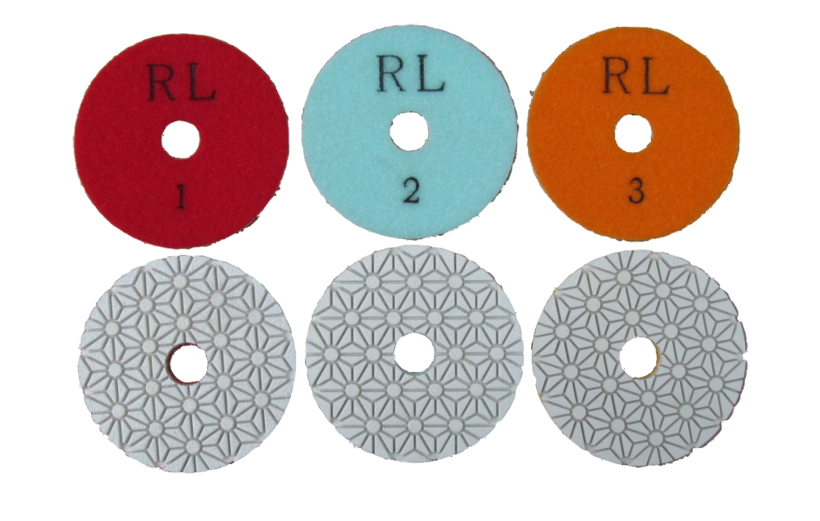 3 Stage Diamond Polishing Pads.