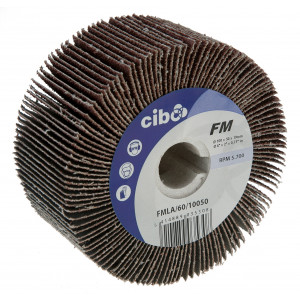 Cloth Flap Wheel Brushes with 19mm Keyway (FMLA)