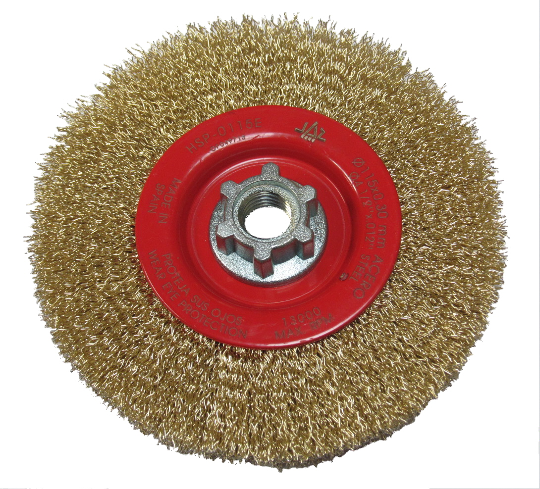 Wire Radial Brush Wheels For Angle Grinders - Brass Coated Steel