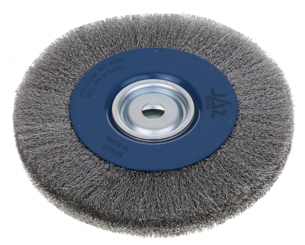 Bench Wire Brush Wheels: Stainless Steel