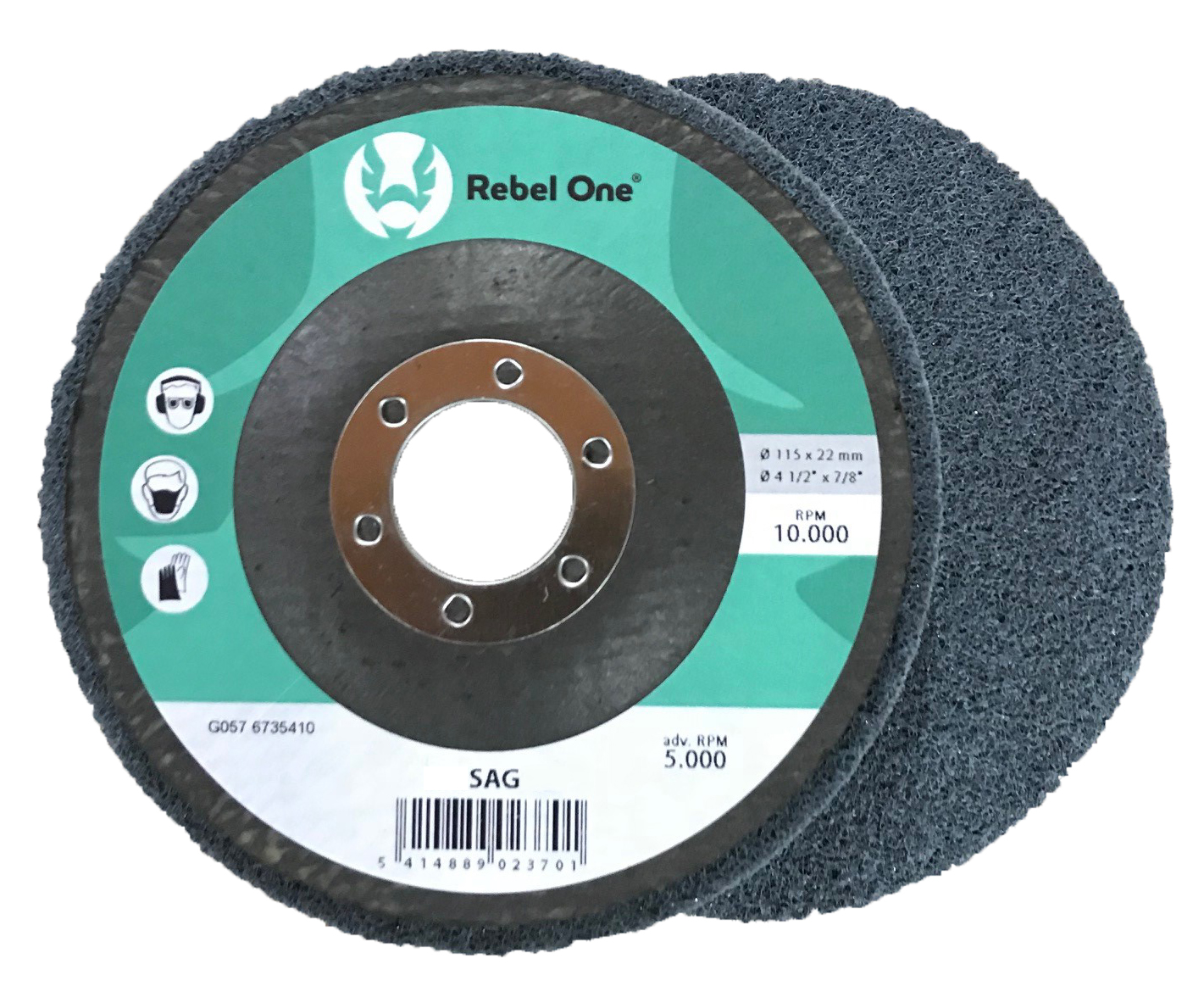 Unitised Metal Polishing Discs (SAG Range)