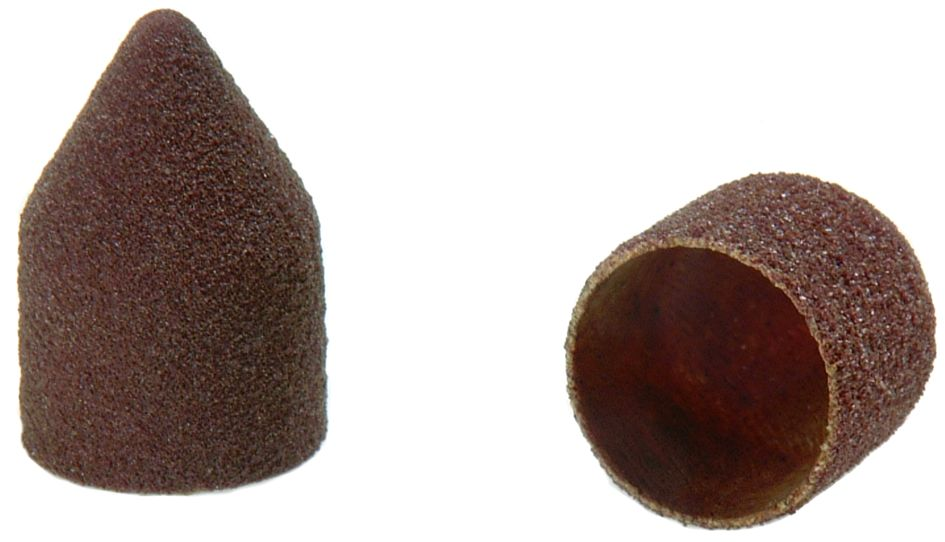 Pointed End Abrasive Caps - Packs of 100.